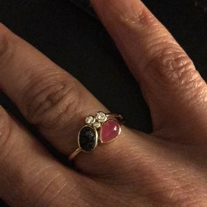 Lord and Taylor Sterling Silver/Gold Ring
